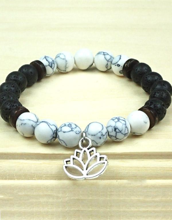 Detox Bracelet with Lotus Charm