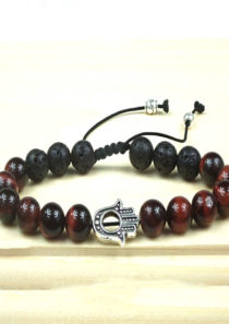 Survival Bracelet with Hand of Fatima/Hamsa