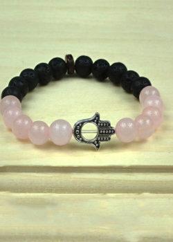 Unconditional Love Bracelet with Hand of Fatima/Hamsa